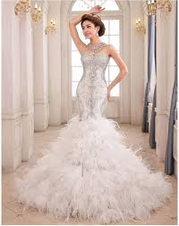 one of biggest wedding dress trends from bridal 2016 feathers