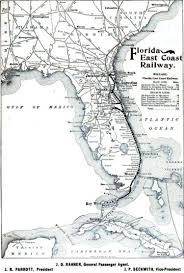 Map Of Florida East Coast Beaches by Map Of Florida East Coast Railway