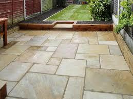 stone patios low maintenance patio garden affordable low