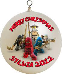 personalized ninjago christmas ornament custom gift 2
