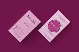 beauty spa minimal business card business card templates