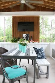 summer porch tour alabama farmhouse tv walls and porch