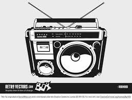 80 u0027s boom box ghetto blaster free vector art