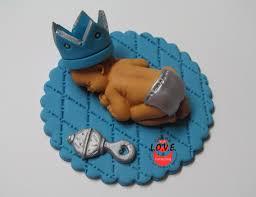 little prince baby topper cake topper sleeping baby fondant