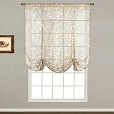 Tie Up Valance Curtains United Curtain Tie Up Shade 40 By 63 Inch