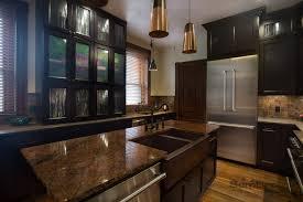 downtown dark kitchen cabinets