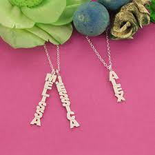 vertical name necklace personalized vertical name necklace monogram online