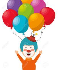 clown baloons clown balloons festival funfair design vector illustration