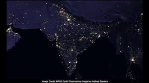 World At Night Map by India At Night As Seen From Space Nasa Releases Stunning New