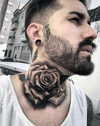 15 most attractive neck tattoos for girls rose neck tattoo