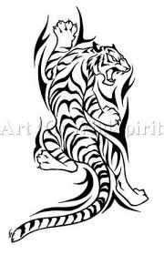 tribal tiger climbing design