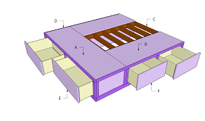 Build Bed Frame With Storage Bed Frames Storage Frame Ellieswonder How To Build Platform With