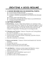 Resume For A Job Example Do Good Job Resume