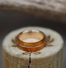 mens gold wedding rings wood antler rings staghead designs