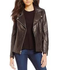 Ivanka Trump Cologne Ivanka Trump Genuine Leather Moto Jacket Dillards