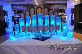 sweet 16 centerpieces 5 ideas for led light centerpieces wedding bar bat mitzvah