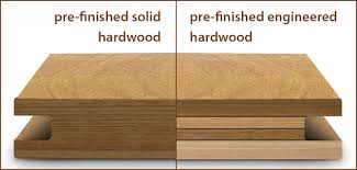 difference between solid hardwood and engineered hardwood floors