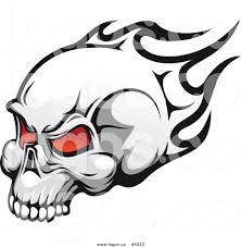 royalty free stock logo designs of flaming skulls