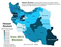 map iran regional and ethnic patterns in the 2013 iranian presidential