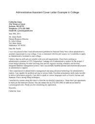 Academic Advising Cover Letter Cover Letter For College Advisor Job Docoments Ojazlink