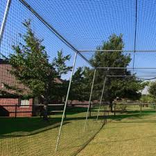 cimarron sports 24 batting cage net with frame corners 50x12x10