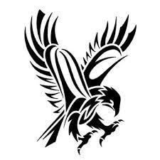 tribal abstract hawk tattoo design tattoowoo com