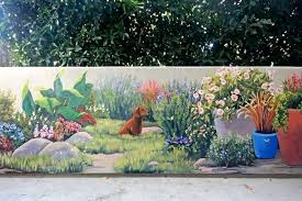 Garden Mural Ideas Garden Murals Garden Wallpaper Murals Mural Wall Ideas Outdoor At
