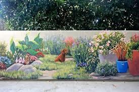 Garden Mural Ideas Garden Murals Garden Wallpaper Murals Mural Wall Ideas Outdoor At