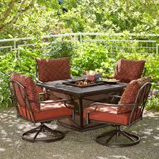 Patio Table With Firepit Remarkable Avondale Aluminum Patio Pit Seating Set By