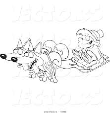 sled dogs clipart 40