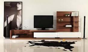 modrest jefferson modern tv unit in walnut u0026 white high gloss