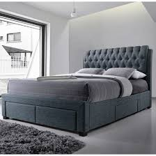 kitchen inspiring upholstered bed frame with storage full