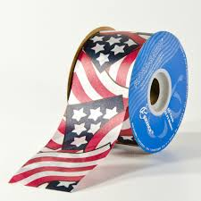 patriotic ribbon 2 3 8 wide patriotic flora satin ribbon wholesale flowers and