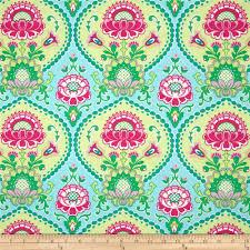 michael miller happy tones lavinia aqua discount designer fabric
