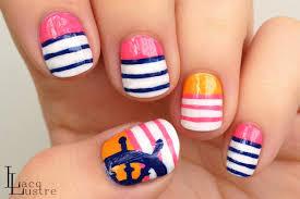 the beauty buffs nautical beach trend nail art wondrously