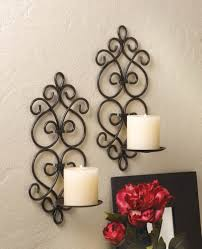 Iron Candle Wall Sconce Tuscan Mediterranean Scroll Work Metal Candle Wall Sconces Best