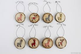 Deer Decorations For Christmas by Deer Wood Slice Ornaments Rustic Christmas