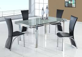 Extending Dining Table And 8 Chairs Glass Extending Dining Table Extendable Toronto Habitat Black