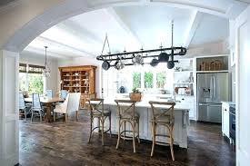 oval kitchen island kitchen island with pot rack whitekitchencabinets org