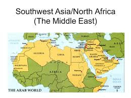 middle east map ppt southwest asia and africa map southwest asianorth africa the