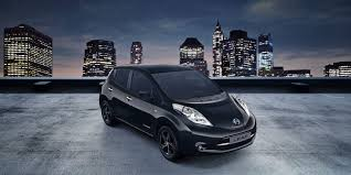 car nissan black nissan leaf electric car hatchback nissan