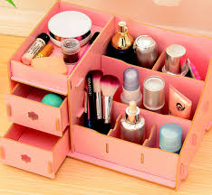 creative wooden storage box jewelry box acrylic makeup organizer