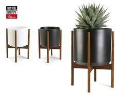 dundee floor planter with tall stand dundee crates and planters