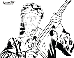daniel boone coloring page coloring pages ideas