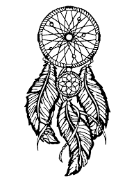 dreamcatcher big feathers zen and anti stress coloring pages