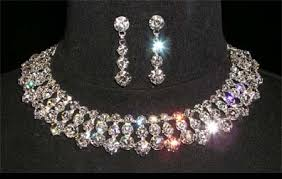 rhinestone choker collar necklace images 14641 chunky stone collar necklace set jpg