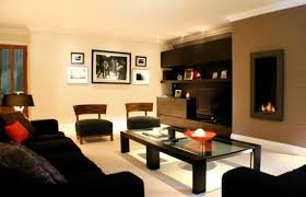 Paint Colors For Living Room Walls With Brown Furniture Brown Accent Paint Wall Color With Black Sofa For Living