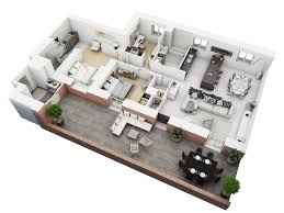 Floor Plan Of A Living Room 25 More 3 Bedroom 3d Floor Plans Architecture U0026 Design