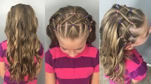 elastic hair band hairstyles woven elastic headband with flat iron curls back to school