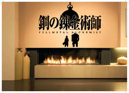 wall decals stickers home decor home furniture diy wall decor vinyl sticker mural poster fullmetal alchemist anime cartoon sa1054